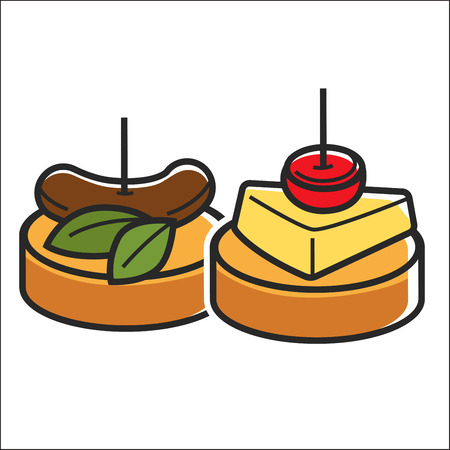 Two small snacks Illustration