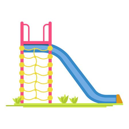 Sliding board on playground illustration. Illustration