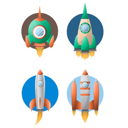 Rockets taking off Illustration