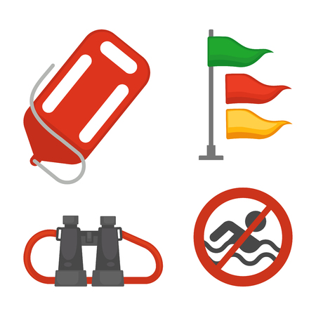 Set of rescue items