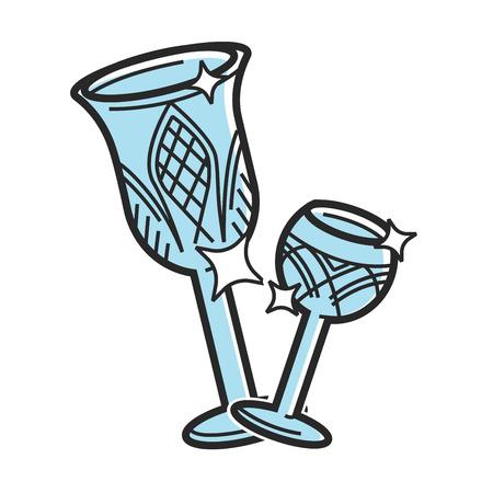 Bohemian glass Czech travel destination, famous culture symbol vector icon