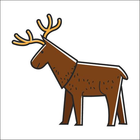 Canadian moose elk vector isolated Canada traditional animal symbol