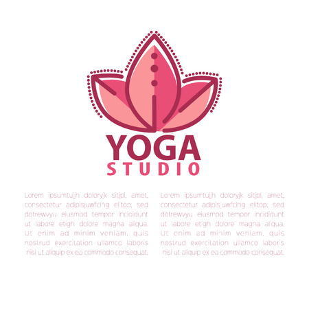 asana: Yoga concept design template with copy space for text. Illustration