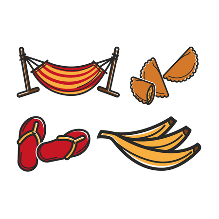Hammock and different food