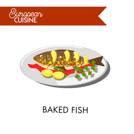 European cuisine food vector menu dish template