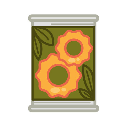 tin: Tin with preserved pineapples Illustration