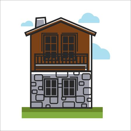 돌과 나무로 만든 집