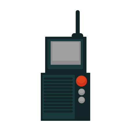 portable radio: Portable radio set Illustration