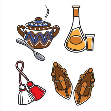 伝統的な服や食品