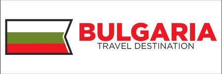 Bulgarian flag and travel destination words