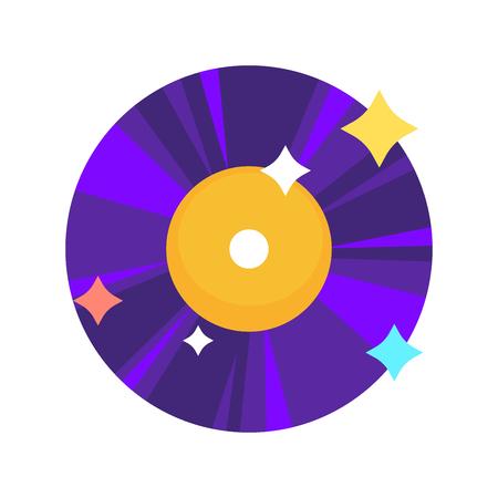 明るい光沢のあるビニール レコード  イラスト・ベクター素材