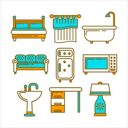 Different home furniture Illustration