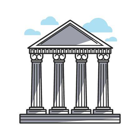 antique: Columns of historic temple