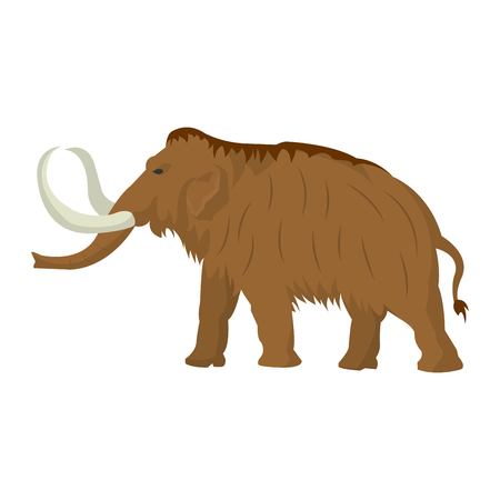 Mammoth large extinct elephant of Pleistocene epoch vector illustration Illustration