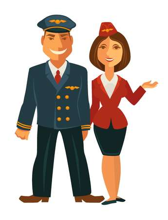 Pilot and hostess together