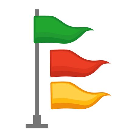 flagstaff: Different colored flags