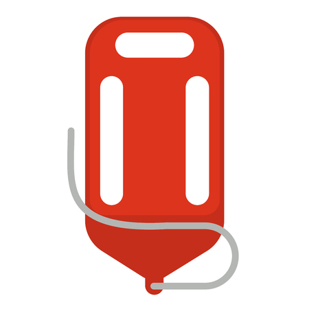 Red life saver Illustration