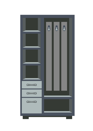 case: Wardrobe with shelves Illustration