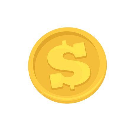 cash: Golden coins symbol of dollars