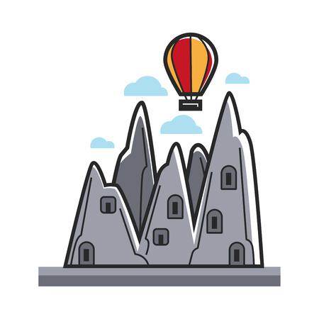 Balloon in mountains