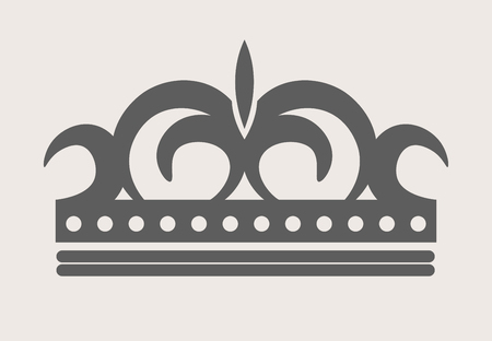 royals: Crown royal diadem or tiara with ornate ornament vector flat isolated icon