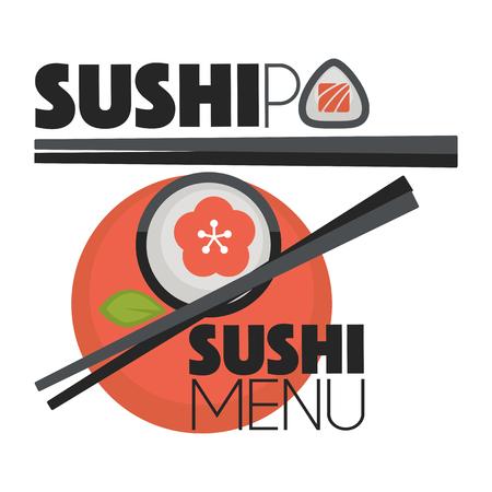 bar: Collection of vector logos  sushi. Illustration