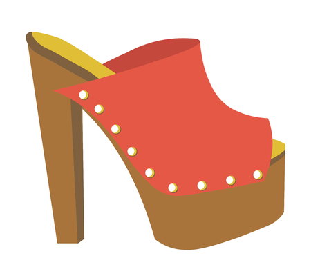 Stylish mule with heavy platform and high heel Ilustrace