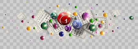 Lottery ticket lucky balls and numbers of lotto vector design