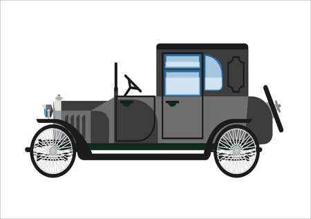 Retro oude auto of vintage retro verzamelaar voertuig auto vector platte pictogram