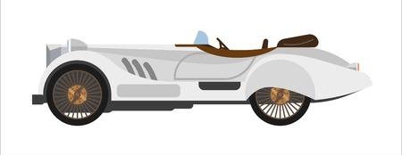 Retro sport auto oude vintage race sportcar collector wehicle vector plat pictogram
