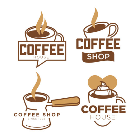 Coffee cup template for coffeeshop