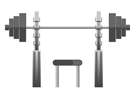 Gym or fitness sport club chest press machine equipment vector icon