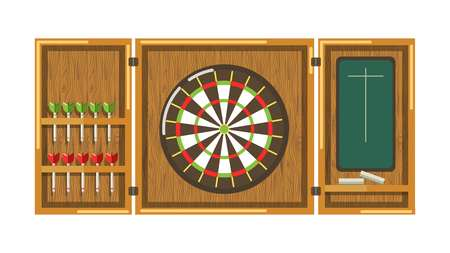 Wooden darts panel