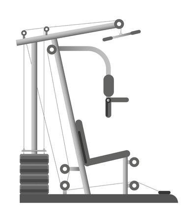 Fitnessgeräte Standard-Bild - 86912744