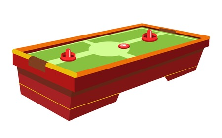 hockey goal: Table hockey with round paddle and thin washer