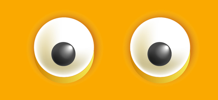 affection: Smiley eyes isolated cartoon vector illustration Illustration