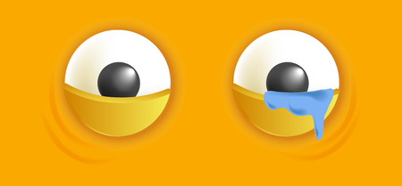 Smiley eyes isolated cartoon vector illustration Stock Photo