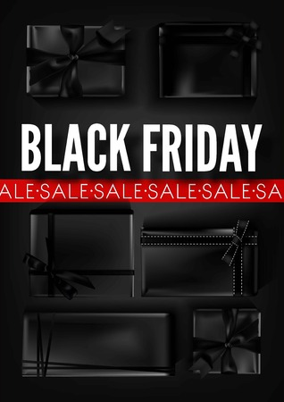 web marketing: Black Friday sale poster template for discount promo offer or advertising store web banner.
