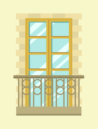 residential: Nice tall broad windows in European style Stock Photo