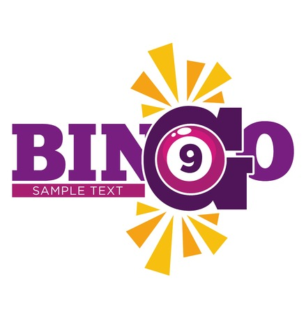 A Bingo promotional emblem with numbered ball and sample text.