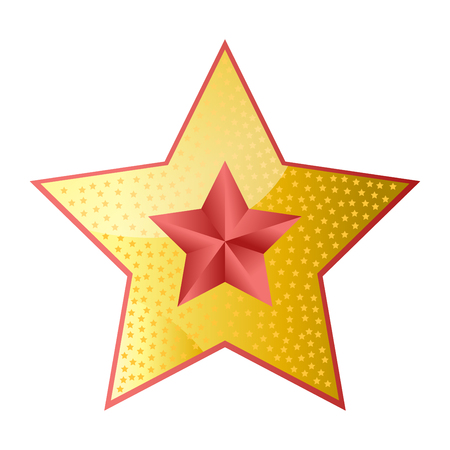 Shiny bright five-pointed star flat vector illustration Illustration
