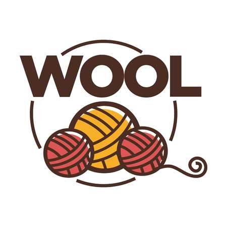 Wool clew label for yarn knitting handicraft or clothing production.