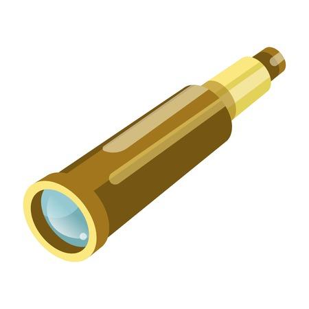 Binoculars or spyglass vector flat isolated icon Illustration