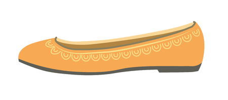 personal ornaments: Comfortable female ballet shoes made of leather with ornament Illustration