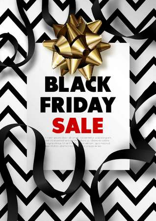 Black Friday sale discount promo offer poster or advertising flyer and coupon. Stock Vector - 88112634