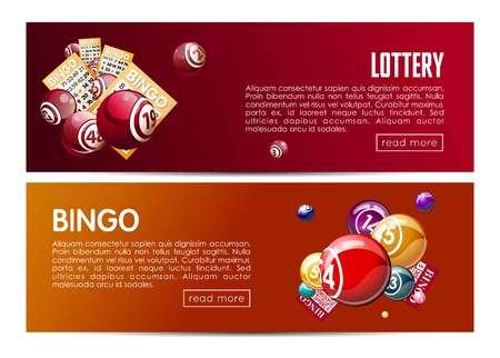 Bingo and lottery web banners templates design Reklamní fotografie - 88218298