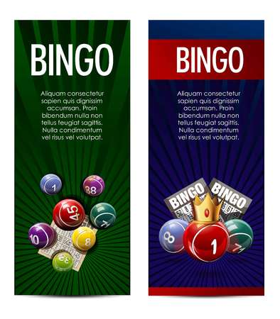 Bingo and lottery banners template design