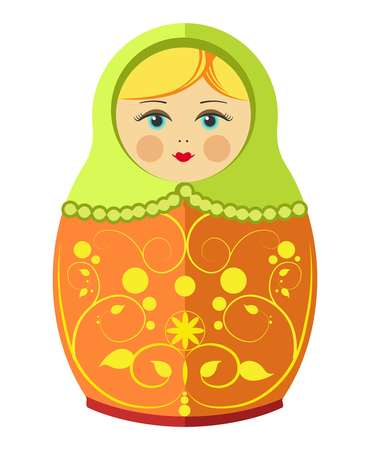 matryoshka: Matryoshka doll or Russian nesting doll with ornament