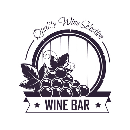 Wine bar club house vector icon template for winemaking label