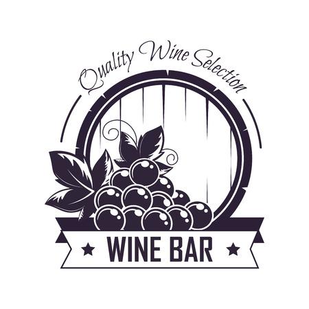Wijn bar clubhuis vector pictogrammalplaatje voor wijnbereidingsetiket
